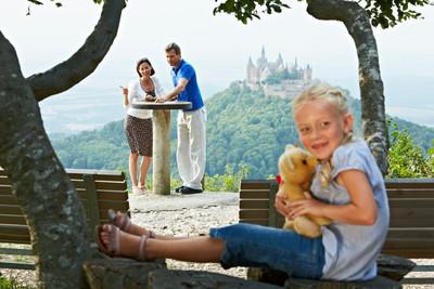 Blick auf Burg-Hohenzollern, Schwäbische Alb