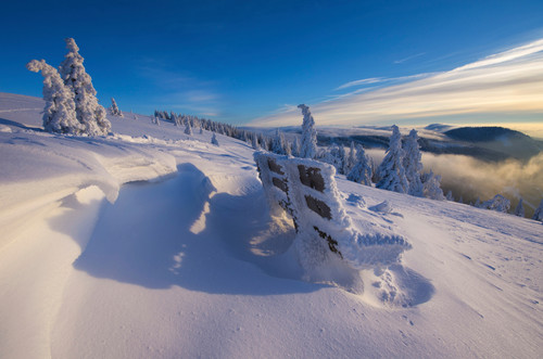 Ice and snow at Feldberg