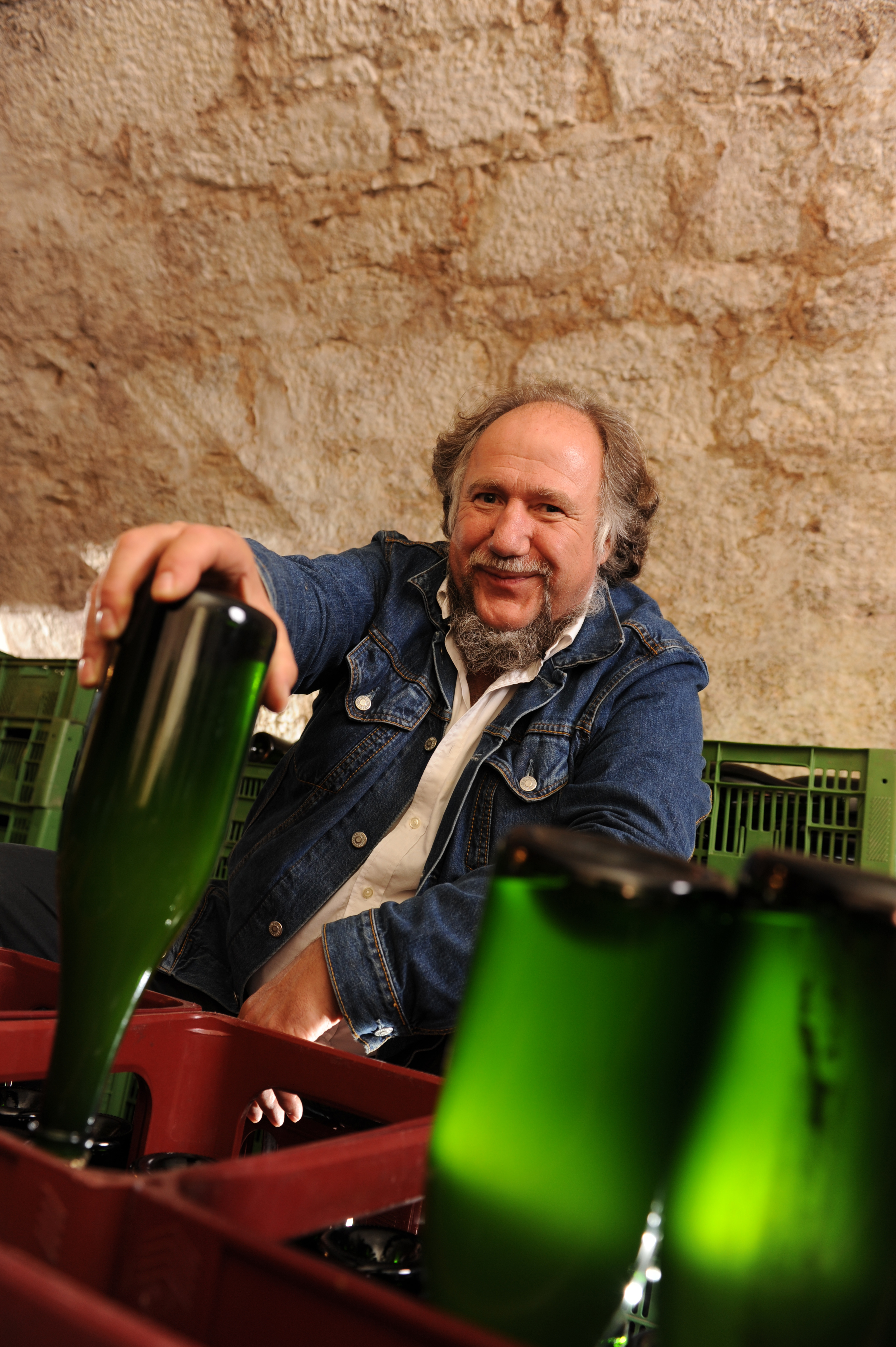 Bernulf Schlauch and his Hohenloher bloosom champagne
