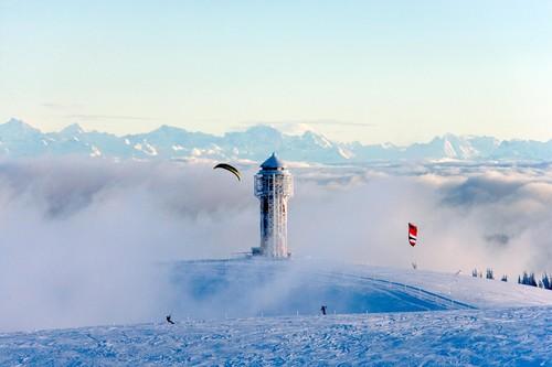 Snowkiten am Feldberg