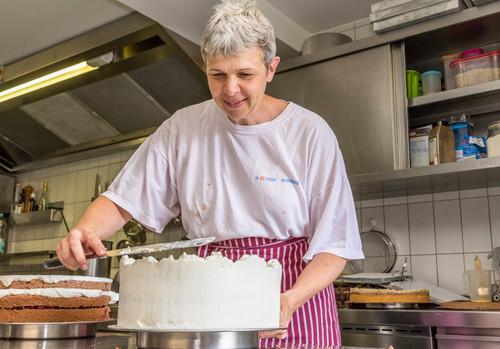 Baking in the Café Goldene Krone